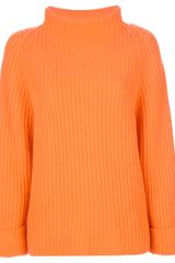 Allude Funnel Neck Sweater - Lyst