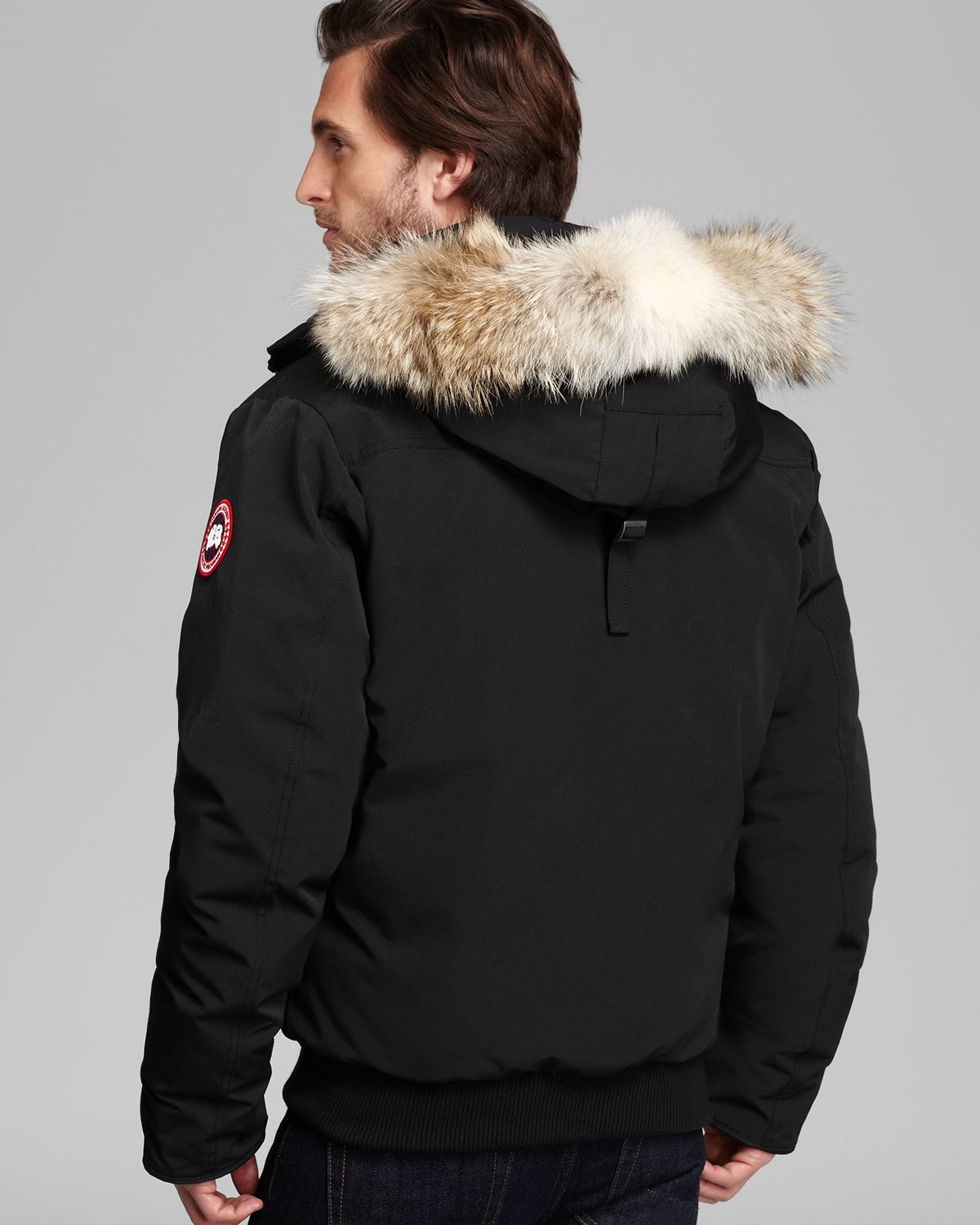 Canada Goose toronto outlet price - Canada goose Borden Bomber Parka With Fur Hood in Black for Men | Lyst