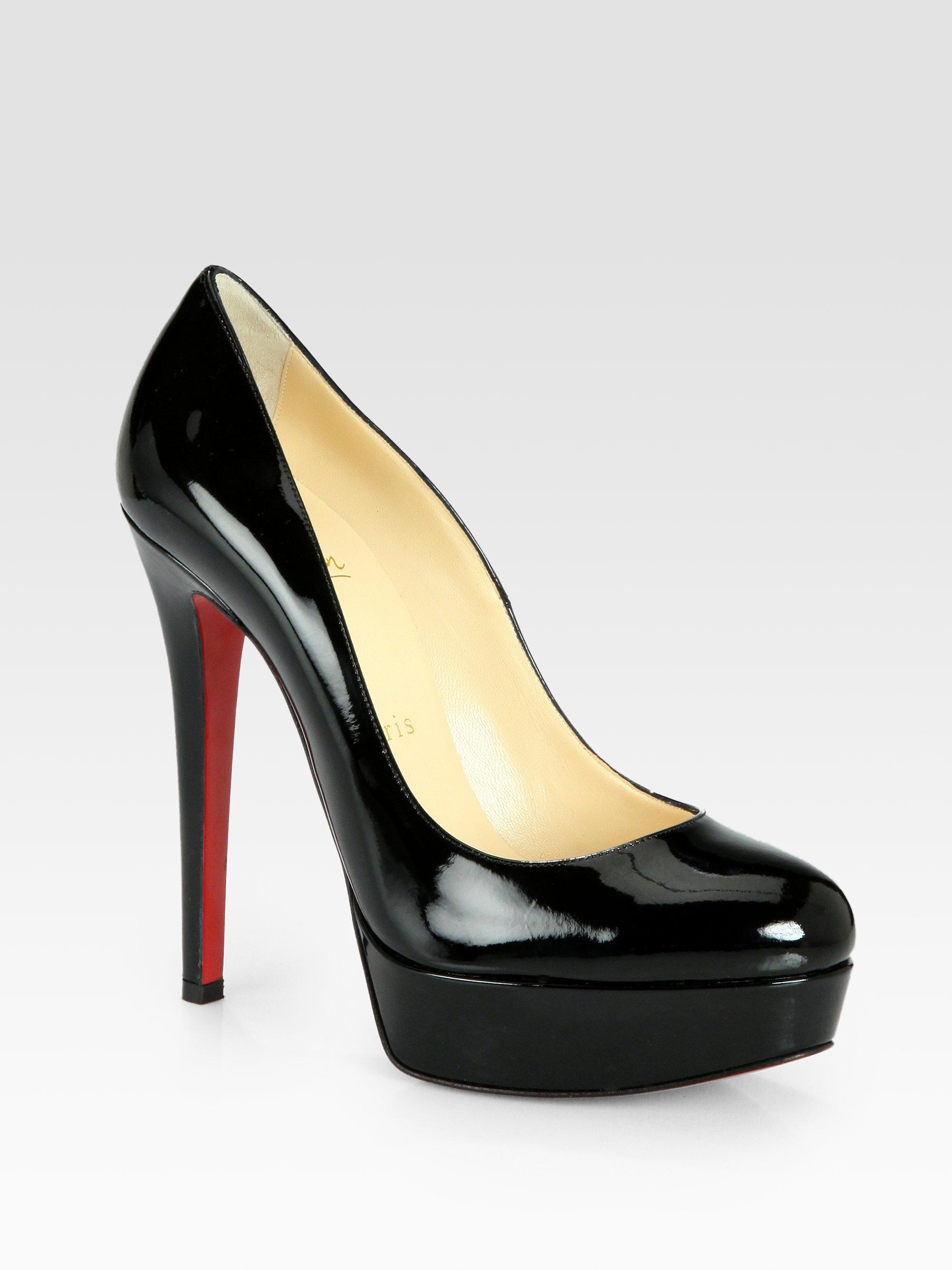 Lyst - Christian Louboutin Bianca Patent Leather Platform Pumps in Black 29dfd0177