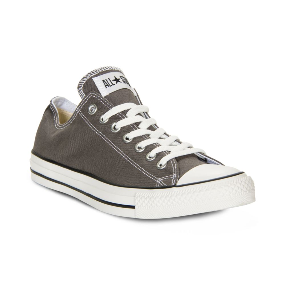converse men 39 s chuck taylor low top sneakers from finish line in gray for men lyst. Black Bedroom Furniture Sets. Home Design Ideas