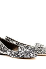 Dolce & Gabbana Sequin Slipperstyle Loafers - Lyst