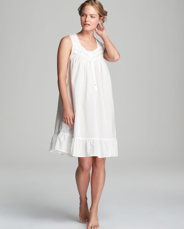 Lyst - Eileen West Victorian Romance Short Nightgown in White