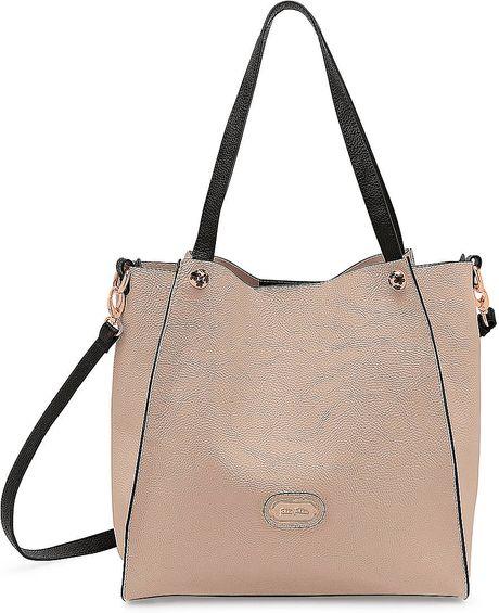 Folli Follie White Flower Ball Crossbody Bag In Beige (Brown) | Lyst