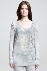 Helmut Helmut Lang Shift Threadbare Long Sleeve Tee - Lyst
