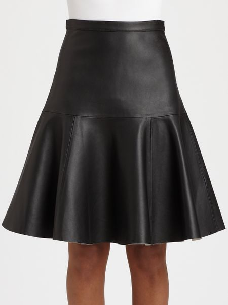 j brand torre leather skater skirt in black lyst