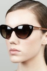 Marc By Marc Jacobs Cateye Sunglasses Havana - Lyst