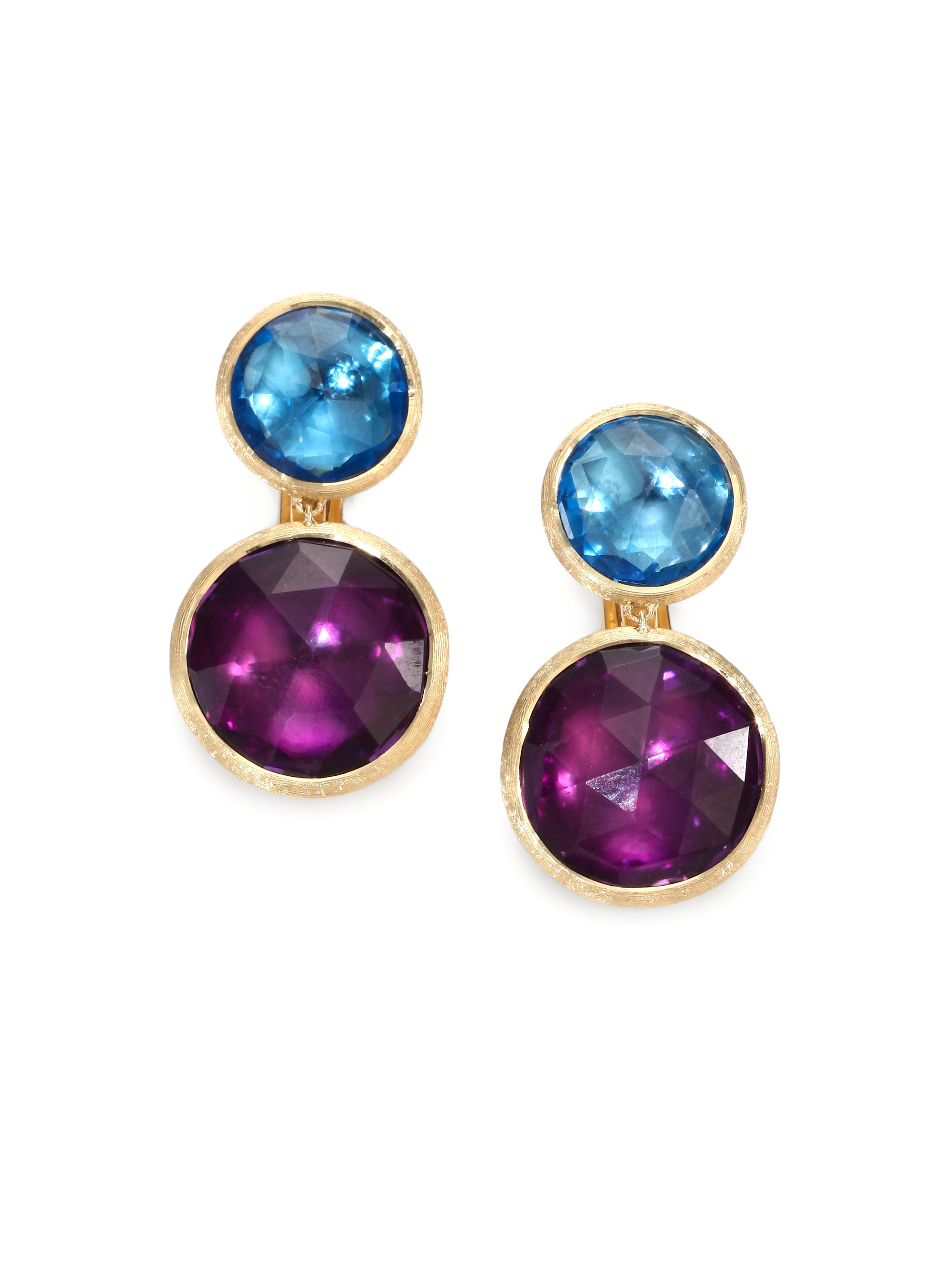 marco bicego topaz amethyst 18k gold drop earrings in. Black Bedroom Furniture Sets. Home Design Ideas