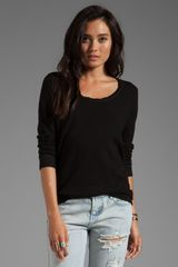 Monrow Boyfriend Fleece Sweatshirt in Black - Lyst
