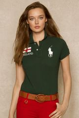 Ralph Lauren Blue Label Cotton Mesh Country Polo - Lyst