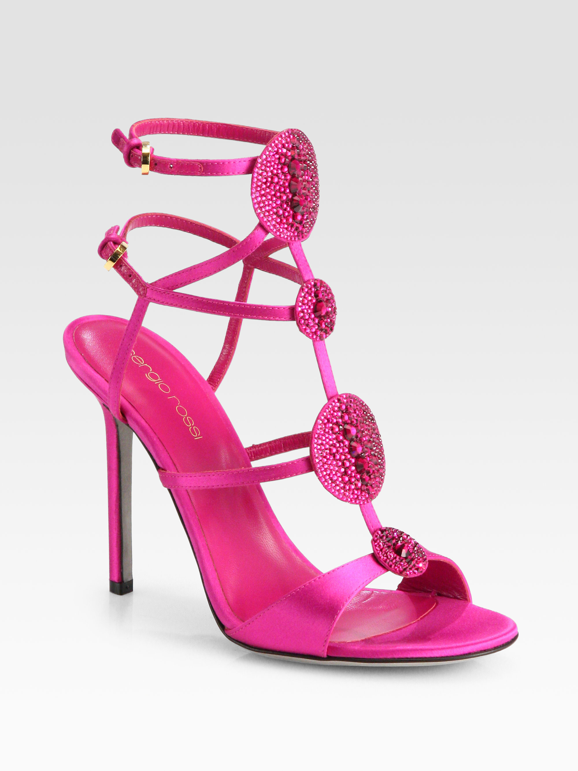 Sergio Rossi Jeweled-Embellishment Satin Mules clearance store cheap online pay with visa sale online discount low price fee shipping factory outlet O3Gzv69j