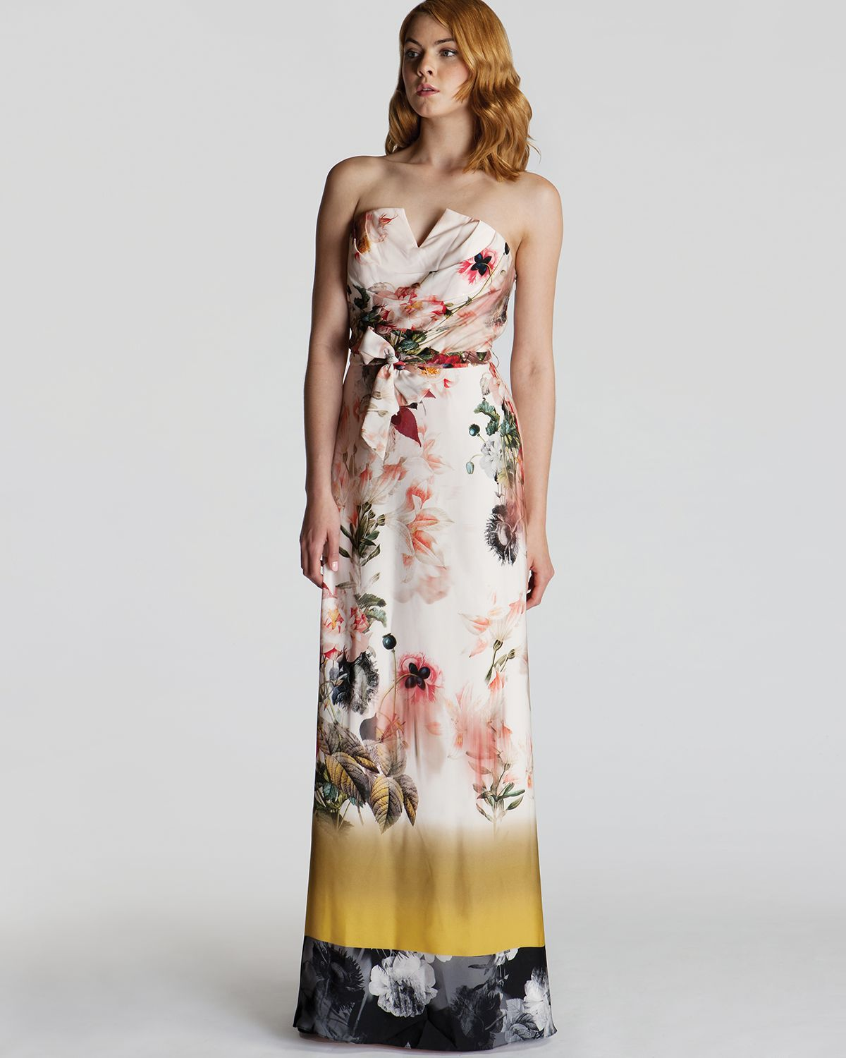 Lyst - Ted baker Gown Aymay Opulent Bloom