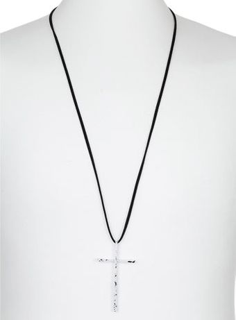 Topman White Multi Cross Necklace - Lyst