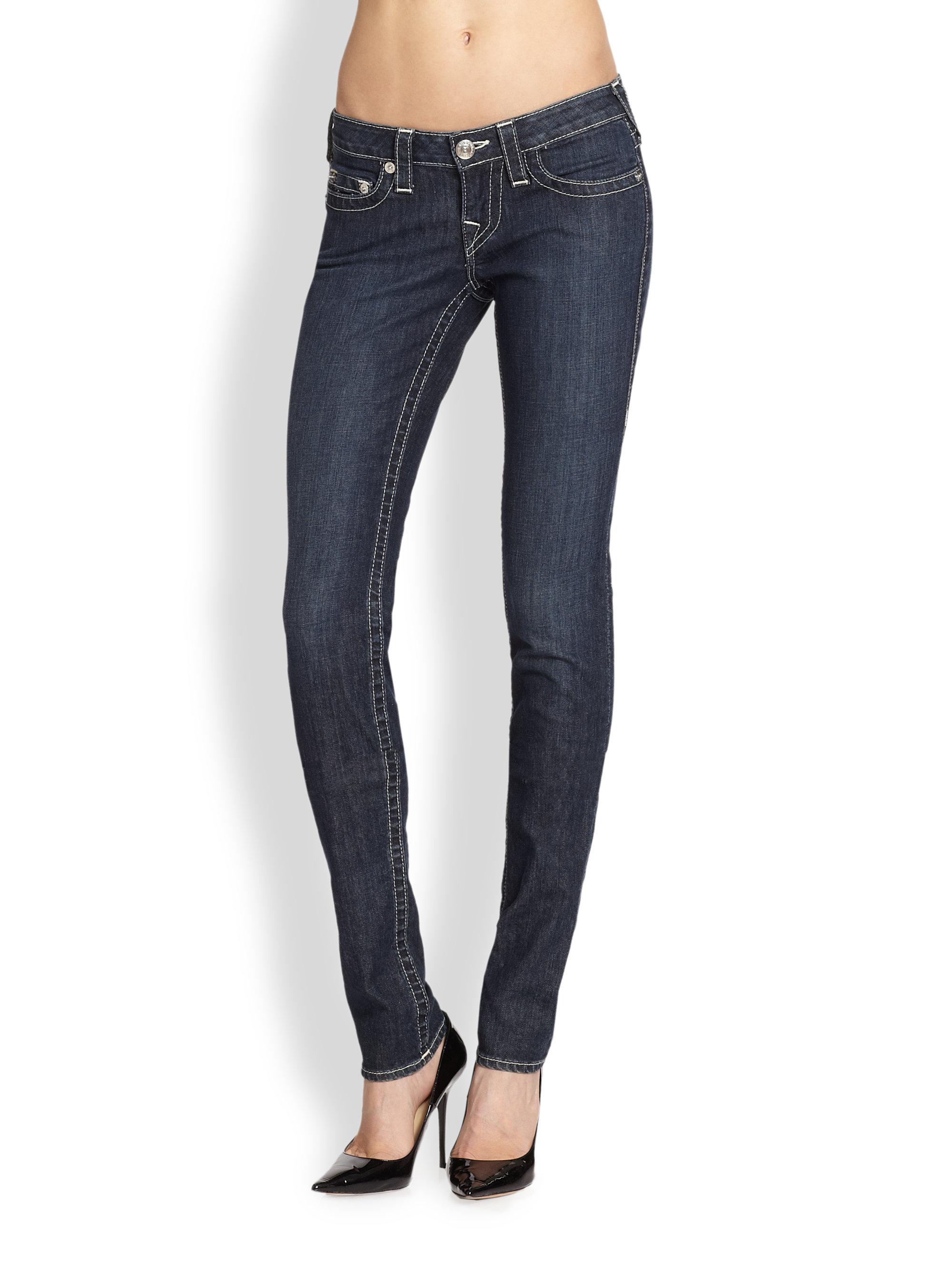 67a03193f True Religion Stella Skinny Jeans in Blue - Lyst