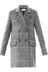 Vanessa Bruno Prince Of Wales Double Breasted Coat - Lyst