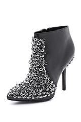 Vera Wang Beacon Embellished Booties - Lyst