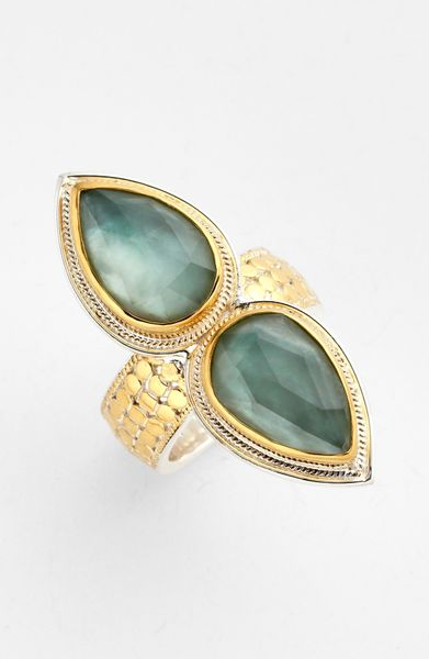 Anna Beck Gili Doublet Ring In Gold Gold Green Amethyst