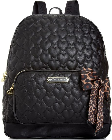 Betsey Johnson Quilted Backpack In Black Leopard Lyst