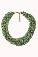 Forever 21 Braided Bead Necklace - Lyst