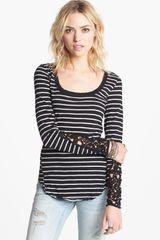 Free People Hard Candy Embellished Sleeve Tee - Lyst