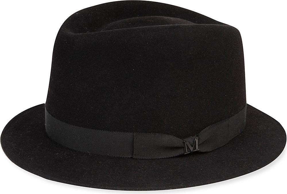 Maison Michel Sean Trilby Hat in Black for Men - Lyst 144c2fc6a330