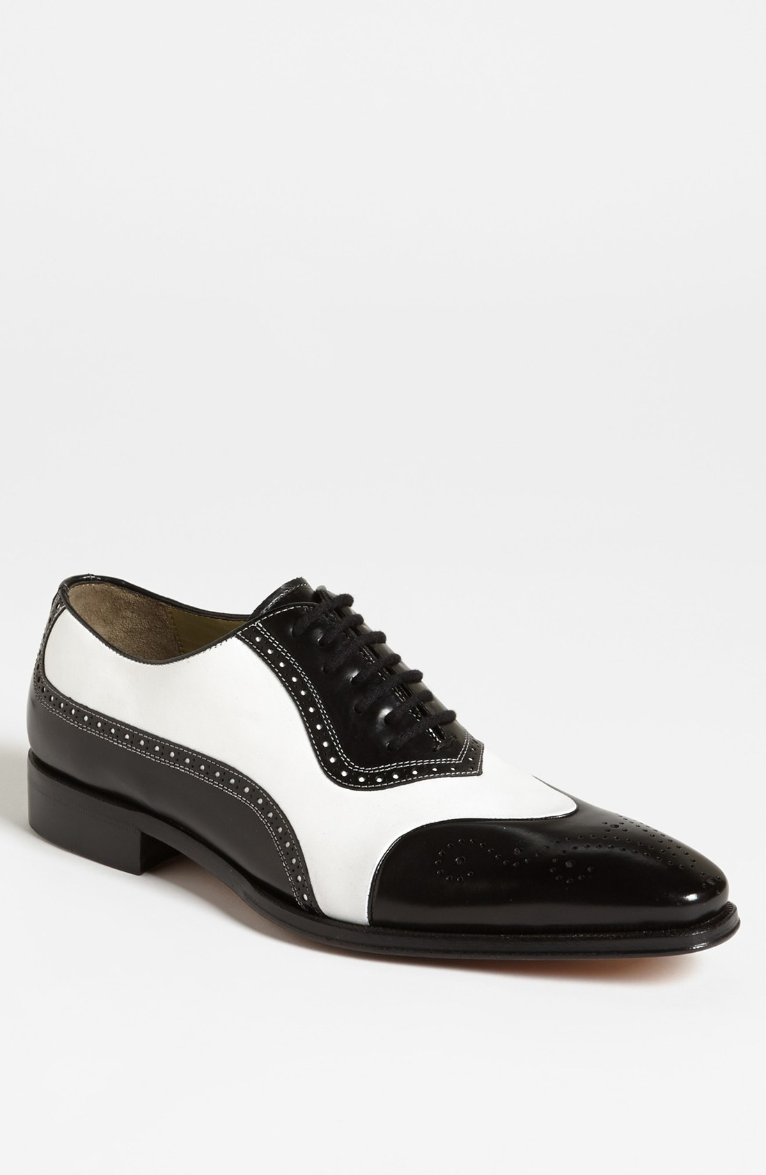 mezlan barrios spectator shoe in black for black