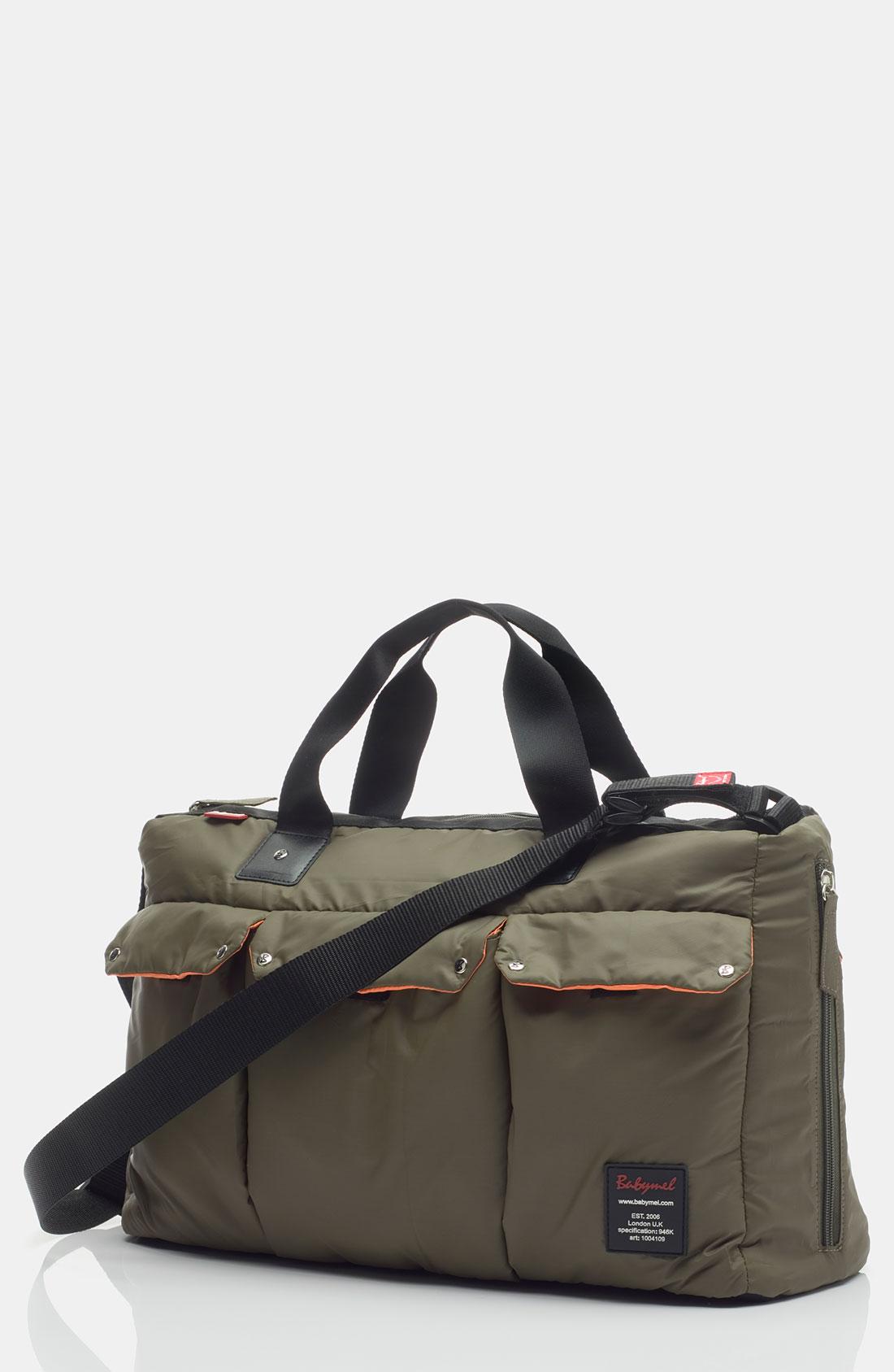 Storksak Babymel Soho Messenger Diaper Bag In Green For