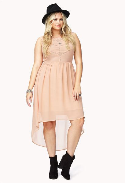 Forever 21 Summer Nights High Low Dress in Pink (Peach) | Lyst