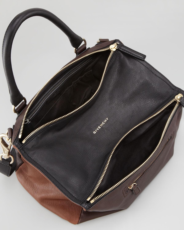 5a5ef50f86 Givenchy Pandora Medium Colorblock Satchel Bag in Black - Lyst