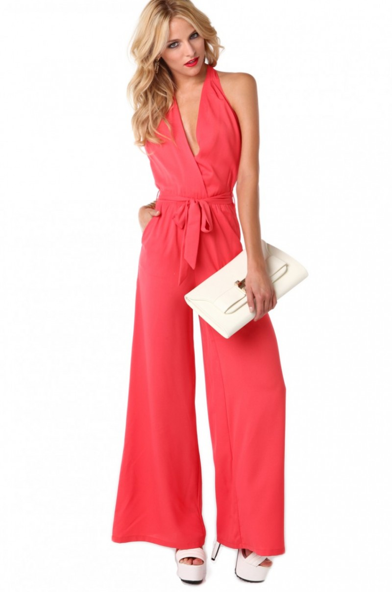 Coral Jumpsuit River Island