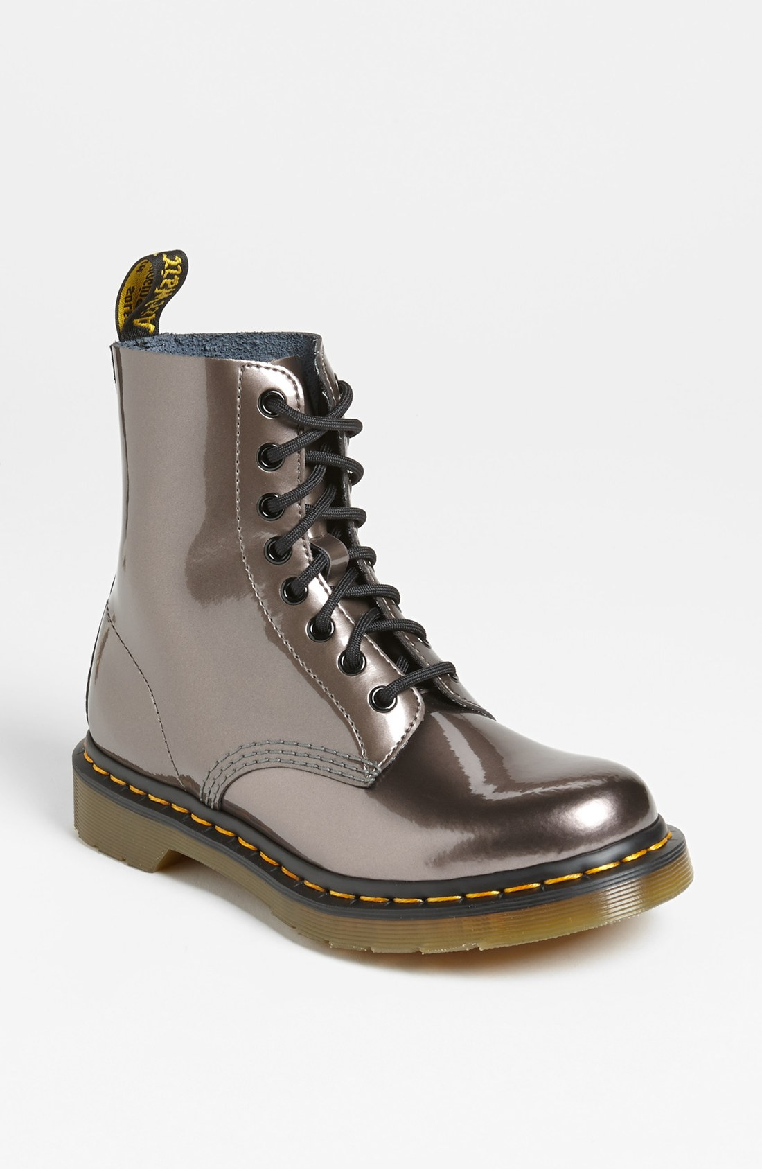 dr martens pascal boot in silver pewter lyst. Black Bedroom Furniture Sets. Home Design Ideas