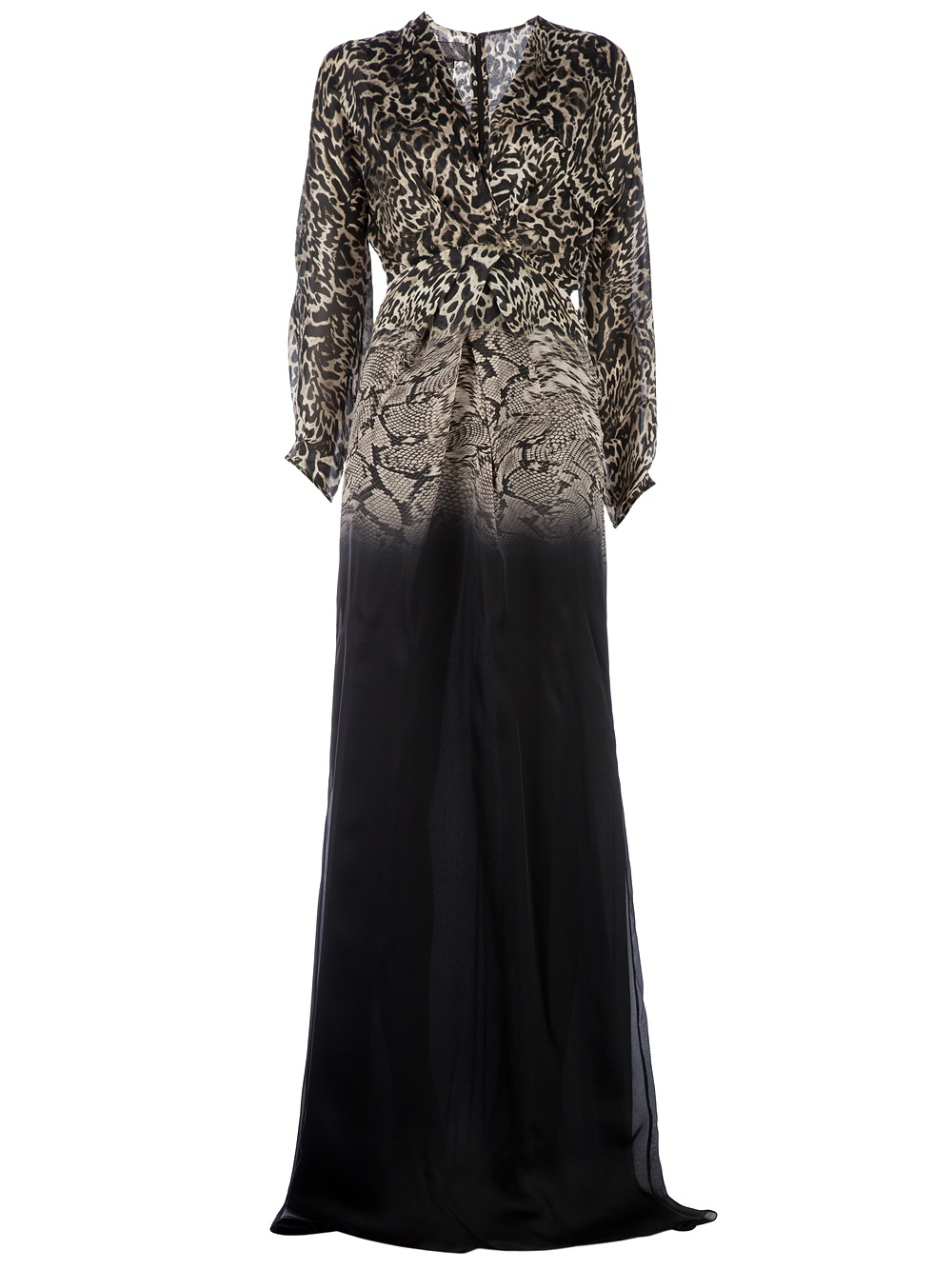 c17cf3422d Lyst - Giambattista Valli Animal Print Gown in Black