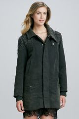 Haute Hippie Stud Shoulder Cargo Jacket - Lyst