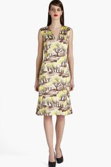 Marni Forest Print Dress - Lyst