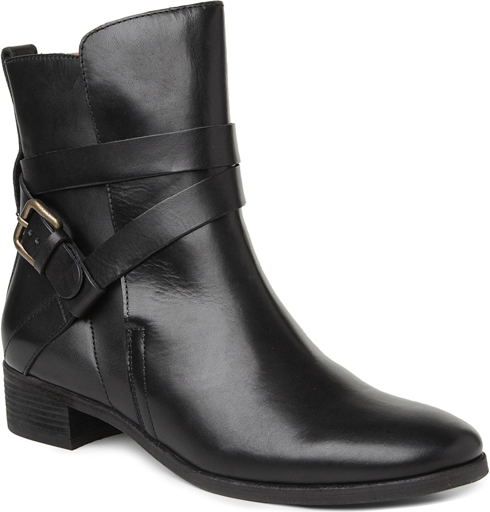 ff3cfa1aa65f1 See By Chloé Jenna Leather Ankle Boots in Black - Lyst