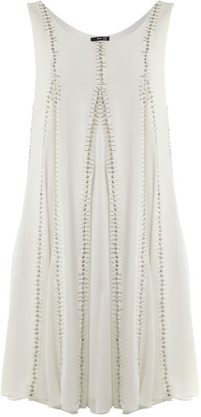 Tfnc Sequin Swing Dress In White Lyst