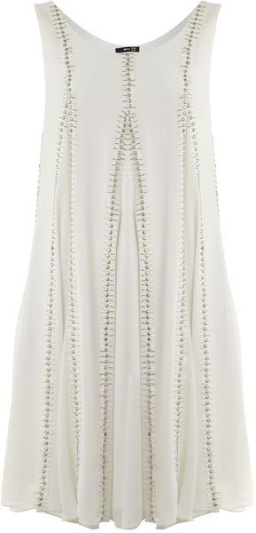 Tfnc Sequin Swing Dress In White Lyst
