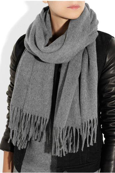 acne studios canada brushedwool scarf in gray lyst