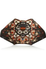 Alexander McQueen De Manta Stained Glassprint Silksatin Clutch - Lyst