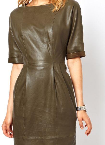 Кожаные платья футляр