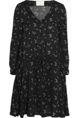 Band Of Outsiders Butterfly Print Silk Dress - Lyst