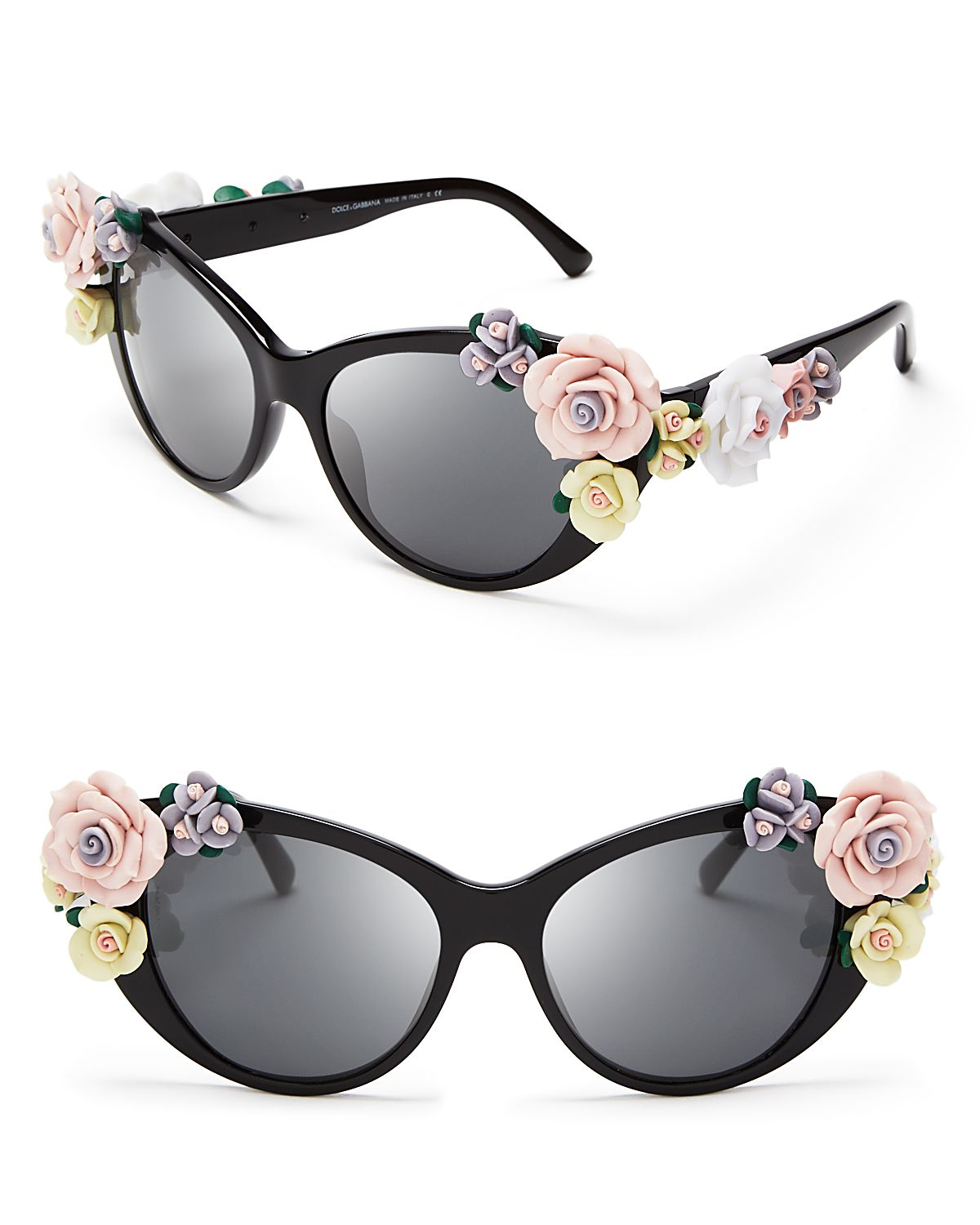 lyst dolce gabbana oversized floral cat eye sunglasses in black. Black Bedroom Furniture Sets. Home Design Ideas