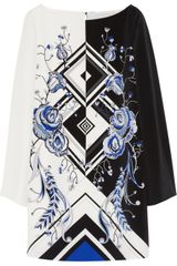 Emilio Pucci Printed Silk-crepe Mini Dress - Lyst
