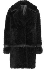 Fendi Reversible Leather and Shearling Coat - Lyst