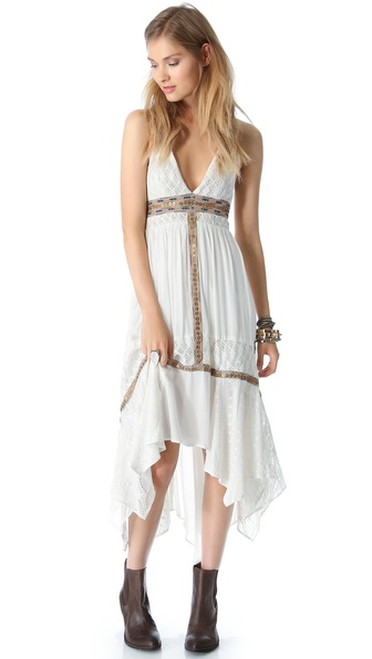 Free people Indian Summer Halter Dress in White | Lyst