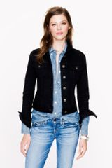 J.Crew Black Denim Jacket - Lyst