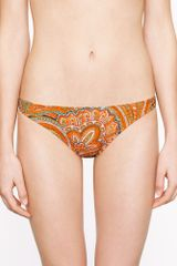 J.Crew Orange Paisley Teeny Hipster - Lyst