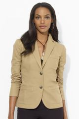 Lauren by Ralph Lauren Stretchcotton Blazer - Lyst