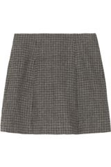 Marc Jacobs Pleated Houndstooth Wool Mini Skirt - Lyst