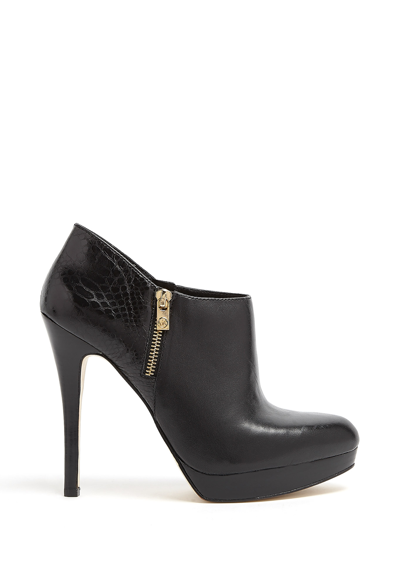 michael michael kors york double side zip ankle boots in. Black Bedroom Furniture Sets. Home Design Ideas