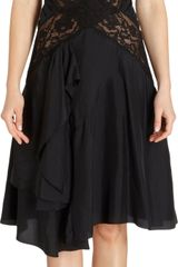 Nina Ricci Lace Inset Sleeveless Dress - Lyst